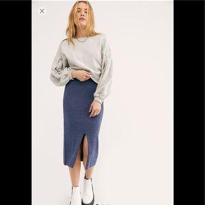 Free People NEW Skyline Midi Skirt,